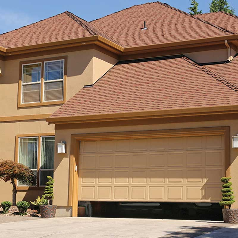 Image of 2-story residential home with double garage. Overhead Door Installation and Repair, Roseville, Sacramento, Stockton