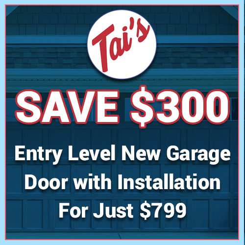 Image of Tai's Garage Doors & Locksmith Special Promotion - Save $50 On Any Garage Door Repair Service - Roseville CA